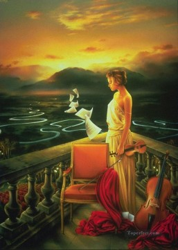 JPA The Music of Silence Fantasy Oil Paintings